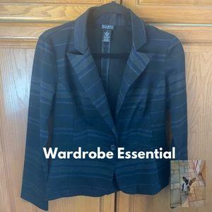 Black stripe easy care blazer size S